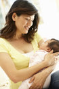 Asian mother and baby Royalty Free Stock Photo
