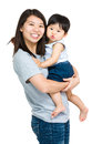 Asian mother with baby son Royalty Free Stock Photo
