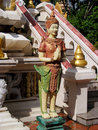 Asian mythological statue in Cambodia Royalty Free Stock Photo