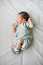 Asian newborn baby in hospital, delivery room Royalty Free Stock Photo
