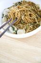 Asian noodle bowl Royalty Free Stock Images