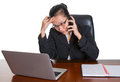 Asian Office Worker Under Pressure Expression III Royalty Free Stock Photo