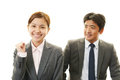 Asian office workers Royalty Free Stock Photo