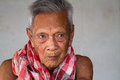 Asian old senior man candid portrait at chonburi thailand Royalty Free Stock Photos