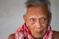Asian old senior man candid portrait at chonburi thailand Stock Photo