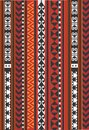 Asian ornamental carpet, red and orange, CARPET