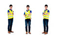 Asian painter man worker series Royalty Free Stock Photo