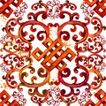 Asian pattern. east seamless ornament. watercolor ethnic background