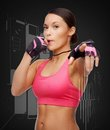Asian personal trainer with whistle sport fitness and healthcare concept beautiful Stock Photos
