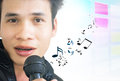 Asian Pop Singer Royalty Free Stock Image
