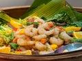 Asian prawn salad Royalty Free Stock Photo