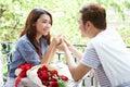 Asian Romantic Young Couple En...