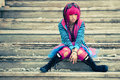 Asian sad lolita Stock Images