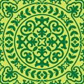 Asian seamles ornament seamless vector background with green Stock Images