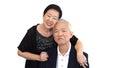 Asian senior partner in formal attire. Love life family business Royalty Free Stock Photo
