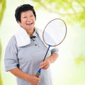 Asian senior sport Royalty Free Stock Images