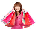 Asian shopping woman Royalty Free Stock Photos