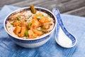 Asian shrimp soup Royalty Free Stock Photo