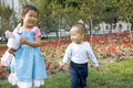 Asian sister and brother Royalty Free Stock Photo