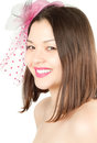 Asian smiling kazakh  beautiful woman Stock Photo
