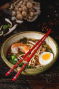 Asian soup ramen with shrimp Royalty Free Stock Photo