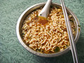 Asian spicy instant noodle soup Royalty Free Stock Photo