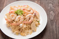 Asian spicy seafood noodle yum noodle seafood Stock Photography