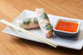 Asian spring rolls with vegetables Royalty Free Stock Photo