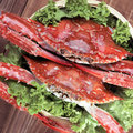 Asian steamed crabs Royalty Free Stock Image