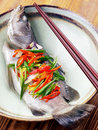 Asian steamed fish Royalty Free Stock Photos
