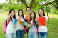 Asian students making ok sign Stock Image