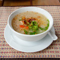 Asian style breakfast soft boiled rice soup Royalty Free Stock Photos
