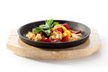 Asian style chicken stir fry with vegetables Royalty Free Stock Images