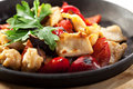 Asian style chicken stir fry with vegetables Stock Photography