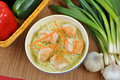 Asian style noodle chicken soup Stock Photos