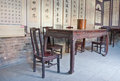 Asian Table and Chair Stock Photography