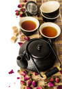 Asian tea set Royalty Free Stock Photo
