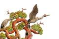 Asian temple crane motif