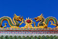Asian temple dragon Royalty Free Stock Photography