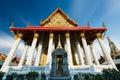 Asian temple in wat arun bangkok thailand Royalty Free Stock Photo