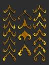 Golden Thai art design elements