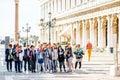 Asian tourists in the Grand Palace, Bangkok, Thailand.