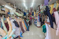 Asian Trading Fabric Store  Royalty Free Stock Image