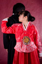 Asian traditional couple Stock Images
