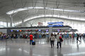 Asian travellers at departure terminal in airport ho chi minh city vietnam jul many people walking hall tan son nhat international Stock Image