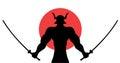 Asian warrior illustration Royalty Free Stock Photo