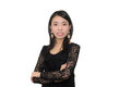 Asian woman angry emotion Royalty Free Stock Image