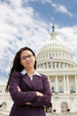 Asian woman on Capitol Hill Royalty Free Stock Images