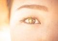 Asian woman eye close up Royalty Free Stock Photo