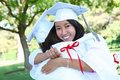 Asian Woman at Graduation Royalty Free Stock Photo